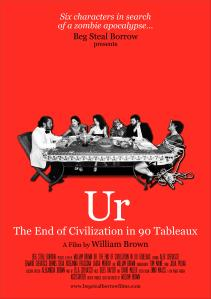 The red poster for Ur: The End of Civilization in 90 Tableux