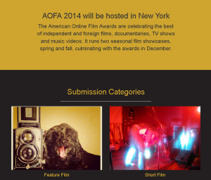Common Ground has been accepted into the American Online Film Awards Spring Showcase 2014.