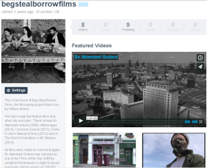 Please go to the Beg Steal Borrow Vimeo page and see our first four features for free!