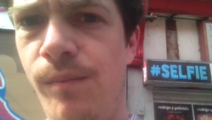 William Brown takes a selfie in his film of the same name.