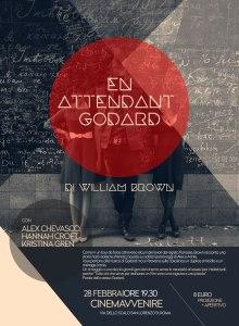 Associazione Kilab's poster for En Attendant Godard's Rome screening.