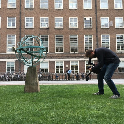 Tom filming the SOAS Armillary Sphere