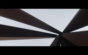 Inside Bernar Venet's Neuf lignes obliques