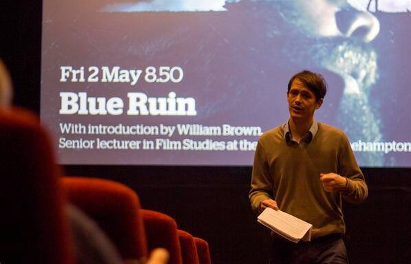 The blog's author introduces Blue Ruin at the Ritzy on 2 May 2014. Photo courtesy of Matt @ The Ritzy!